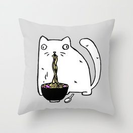 Rasabi Cat - Ramen Forever Throw Pillow