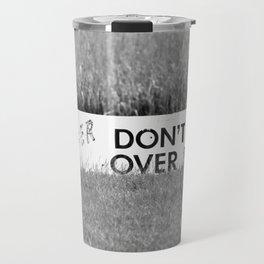 Marsh Danger Sign Travel Mug