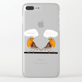 Twittering Clear iPhone Case