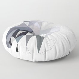 Gray Bird art Mocking Bird Geometric Floor Pillow