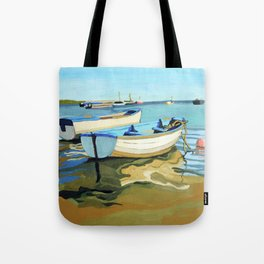 The Blue Boats Tote Bag
