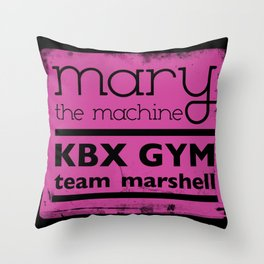 Mary the Machine Throw Pillow