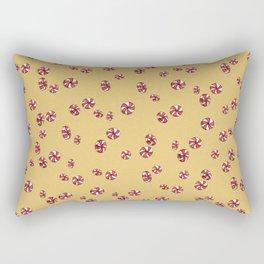 Peppermint Candy in Yellow Rectangular Pillow
