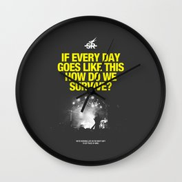 _Embrace The Weekend Wall Clock