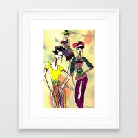 marc jacobs Framed Art Prints featuring Marc Rendition2 by Ashley Love