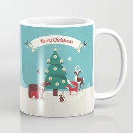 Christmas Animals and Christmas Tree Coffee Mug