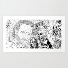 Rick and the Zombies Art Print