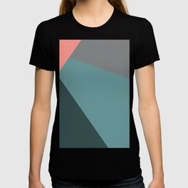 Flashlight, blue & pink, abstract graphic T-shirt