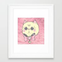 meow Framed Art Prints featuring Meow by lOll3
