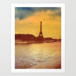 Paris from a Distance  Art Print