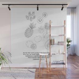 Galatians 5:22-23 Fruit of the Spirit Line Art Sketch Wall Mural