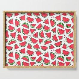 Watermelon World! Kawaii Watermelon Doodle Serving Tray