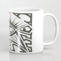 all seeing eye Mugs featuring All seeing eye by Andready