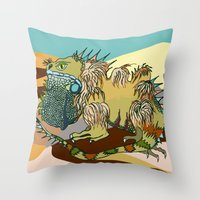 dune Throw Pillows featuring Dune by Maria Paula Quiva