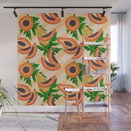 Papaya Party Wall Mural