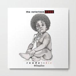 Notorious BIG - Ready To Die ZingaZooo Remix Metal Print