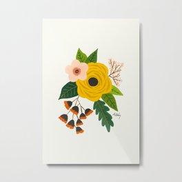 Folk Art Flowers No. 3 Metal Print