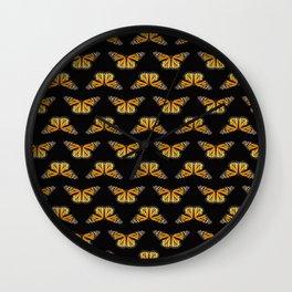 Monarch Butterfly Love Wall Clock