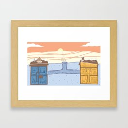 Neighborhood #1 (Tunnels) Framed Art Print