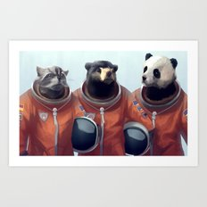 We can be heroes #astronaut Art Print