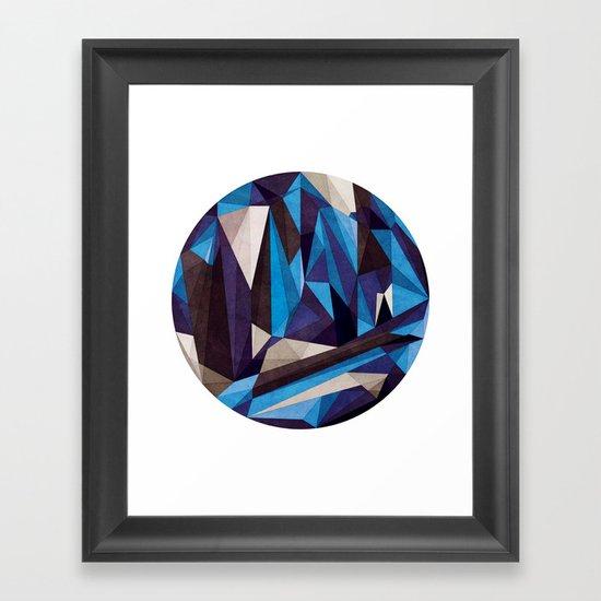 Blue Something Framed Art Print
