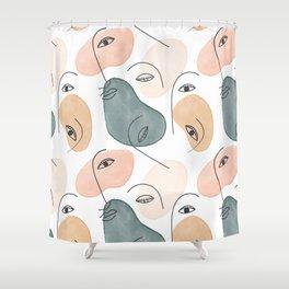 Minimal Figurative Pattern #society6 #buyart Shower Curtain