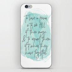 To Love... iPhone & iPod Skin