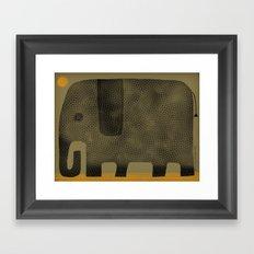 ELEPHANT NAP Framed Art Print