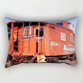 Lil Red Caboose -Wellsboro Ave Hurley ArtRave Rectangular Pillow