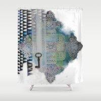cross Shower Curtains featuring Cross by oxana zaika