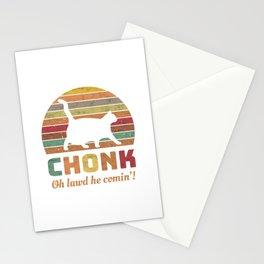 Chonk Scale Cat Meme Memes Retro Stationery Cards