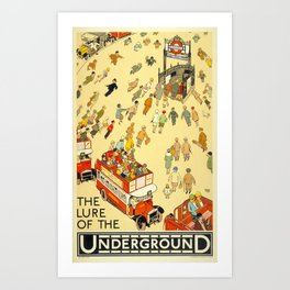 The Lure Of The Underground Art Print