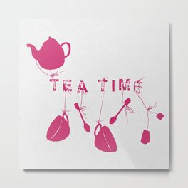 Pink Tea Time 2 Metal Print