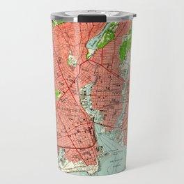 Vintage Map of Bridgeport Connecticut (1951) Travel Mug