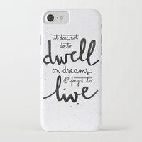 snape iPhone & iPod Cases featuring Dwell on dreams by Earthlightened