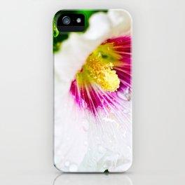 White Hollyhock iPhone Case