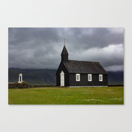 Budir black church Snæfellsnes Peninsula Iceland Canvas Print