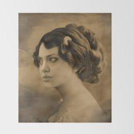 Angelina Jolie Vintage ReplaceFace Throw Blanket