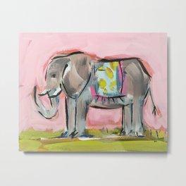 Elated Elephant Metal Print