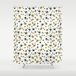 Crisscross Butterflies V.03 - Porcelain White Color Shower Curtain
