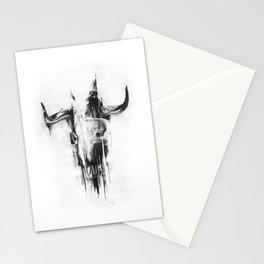 Bull Skull Stationery Cards