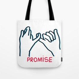 Promised hand emoji Tote Bag