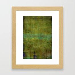 Green burrows ~ Abstract Framed Art Print