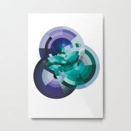 Analogous Blue hue - one Metal Print