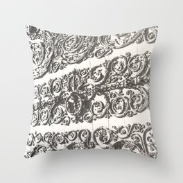 Doorway - Notre Dame Cathedral, Paris, France 2015 Throw Pillow