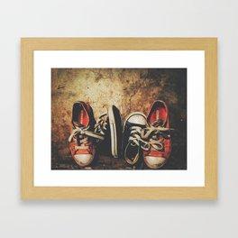 Baby Chucks Framed Art Print