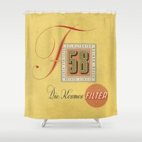 cigarette Shower Curtains featuring Die Kosmos - Vintage Cigarette by Fernando Vieira