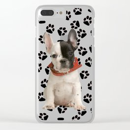Boston Terrier Puppy Clear iPhone Case
