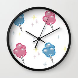 Cotton Candy Clouds Wall Clock
