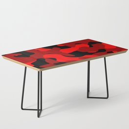 Black and Red Camo abstract Coffee Table
